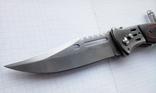 Нож выкидной с фонариком и чехлом, фото №5