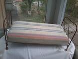 Кровать кукольная с мягким матрацем, фото №2