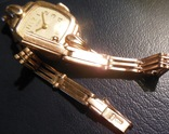 Золотые часы Заря 583 пробы с браслетом СССР, фото №8