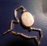 Золотые часы Заря 583 пробы с браслетом СССР, фото №10