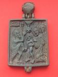 Икона - Энколпион XV век Рождество Христово, Крещение Господне, фото №2