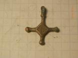 Крест кр     копия серебро, фото №2