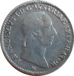 Ломбардия-Венеция ¼ лиры, 1822 М,(монетный двор Милансеребро,С17, фото №2
