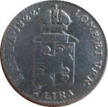 Ломбардия-Венеция ¼ лиры, 1822 М,(монетный двор Милансеребро,С17, фото №3
