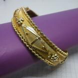 Разжимной браслет с орнаментом. Ширина 15мм, фото №2