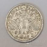 Франція 1 франк, 1942