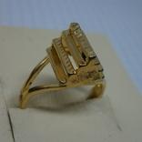 Кольцо с выступающим элементом. Разжимное, фото №2