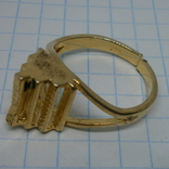 Кольцо с выступающим элементом. Разжимное, фото №5