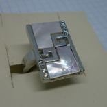 Кольцо со вставками под перламутр, фото №2