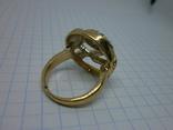 Кольцо под золото с камнями. Новое, фото №4