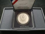 США 1 доллар 1991 ПРУФ серебро Гора Рашмор фото 2