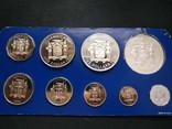 Ямайка 1976 Годовой набор ПРУФ серебро фото 2