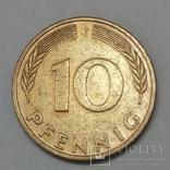 Німеччина 10 пфенігів, 1982