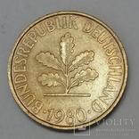 Німеччина 10 пфенігів, 1980 фото 2