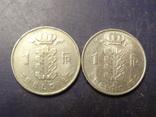 1 франк Бельгія 1966 (два різновиди), фото №2