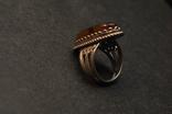Винтажный перстень с янтарем, фото №6