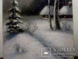 ''Зимний пейзаж ''. 18х35 см. масло холст на подрамнике. Копия., фото №4