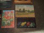 Картины, масло - двп. (6 картин), фото №9
