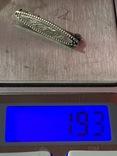 Винтажная серебряная брошь с Англии 835 проба, фото №6