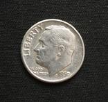 США 10 центов (дайм) 1950 серебро