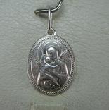 Серебряный Кулон Иконка Пресвятая Богородица Владимирская Умиление 925 проба Серебро 861