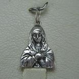 Серебряный Кулон Икона Иконка Пресвятая Богородица Мария Молящаяся 925 проба Серебро 848
