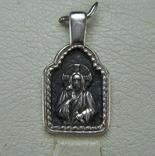 Серебряный Кулон Икона Иконка Иисус Христос Вседержитель Пантократор 925 проба Серебро 857