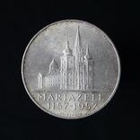 25 Шиллингов 1956 800 лет Базилике Мариацелля (Серебро 0.800, 13г), Австрия, фото №2