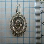 Новый Серебряная Иконка Кулон Пресвятая Богородица Казанская 925 проба Серебро 847, фото №3