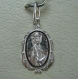 Новый Серебряный Кулон Икона Святой Констанстин Костянтин 925 проба Серебро 692