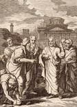 Старинная гравюра. Религиозная тематика. (11,2х8,3см.)., фото №2