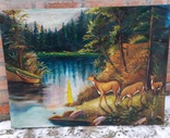 Пейзаж с оленями, фото №2