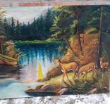 Пейзаж с оленями, фото №3