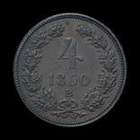 4 Крейцера 1860 В, Австро-Венгрия фото 2