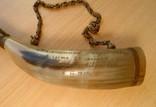 Декоративный охотничий манок 1977 г. Дарственная надпись. Материал: Бакелит, Рог, Латунь, фото №5