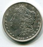 Морган Доллар 1890 г. Серебро. Монетный двор, фото №2