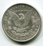 Морган Доллар 1890 г. Серебро. Монетный двор, фото №3