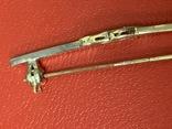 Винтажная серебряная брошь в позолоте с белыми камушками, фото №8