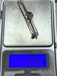 Винтажная серебряная брошь 835 проба, фото №5