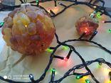Новорічні шари з янтаря, фото №5