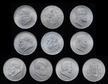 2 Шиллинга 1928-1937 Полный Набор 10 Штук, Австрия