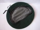 Берет зеленый.58 размер, фото №3
