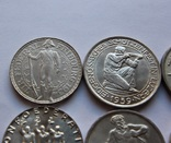 Лот 5 франков 1934 . 1939 . 1939 . 1941 . 1944 . 1948 Швейцария серебро, фото №3
