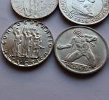 Лот 5 франков 1934 . 1939 . 1939 . 1941 . 1944 . 1948 Швейцария серебро, фото №5