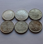 Лот 5 франков 1934 . 1939 . 1939 . 1941 . 1944 . 1948 Швейцария серебро, фото №7