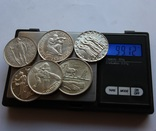 Лот 5 франков 1934 . 1939 . 1939 . 1941 . 1944 . 1948 Швейцария серебро, фото №8