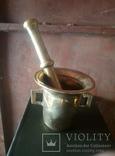 Бронзовая ступка. 2.5 кг (12-06-С), фото №2