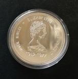 Канада 1 доллар 1977 ПРУФлайк серебро Трон, фото №3