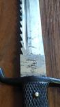Парадный нож, пожарных подразделений, акулий зуб,пила, клеймо WKS, фото №11
