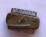 Запонки с янтарем , 875 пр., фото №8